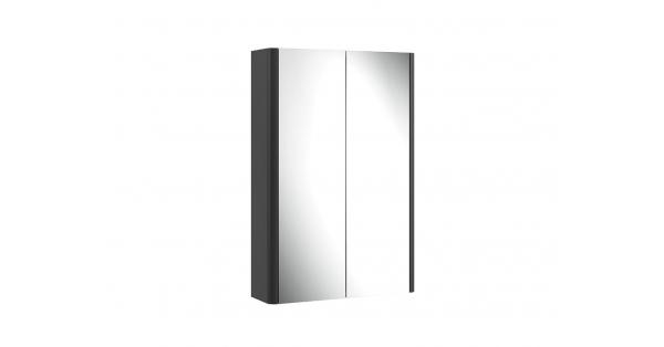 Casi 500mm 2 Door Mirror Cabinet Grey