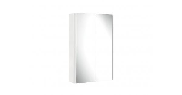 Casi 500mm 2 Door Mirror Cabinet White