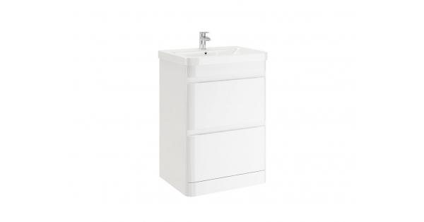 Casi 600mm 2 Drawer Floor Unit White
