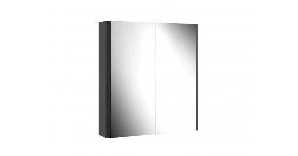 Casi 700mm 2 Door Mirror Cabinet Grey