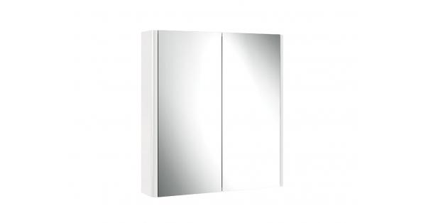 Casi 700mm 2 Door Mirror Cabinet White