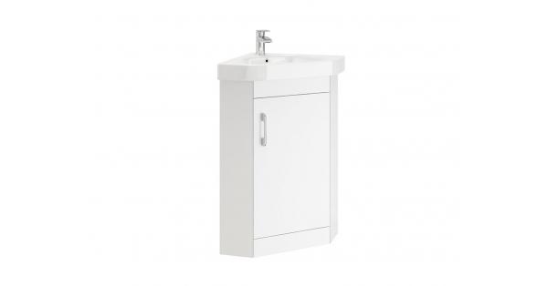 Casi 1 Door Corner Floor Unit White