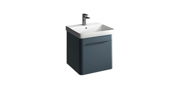 Brooklyn 500mm 1 Drawer Wall Unit Sapphire with Zen Basin