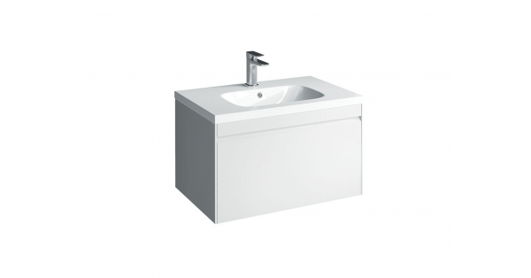 Hampton 700mm 1 Drawer Wall Unit White