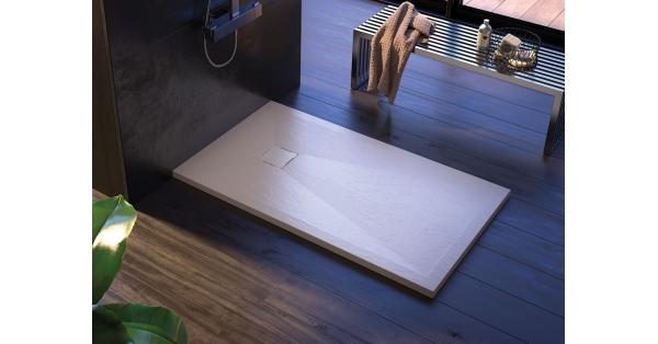 Ibiza Slate Square Showers Tray  (White)