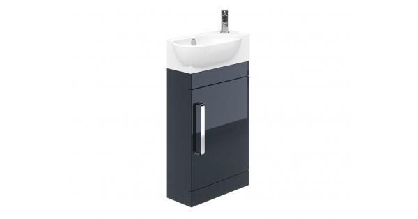 Ravello 400mm 1 Door Floor Unit Indigo with 450mm Zen Basin