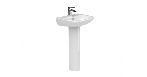 Rio SP 500mm Cloakroom Basin & Pedestal