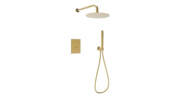 Brushed Brass Shower Kit 1