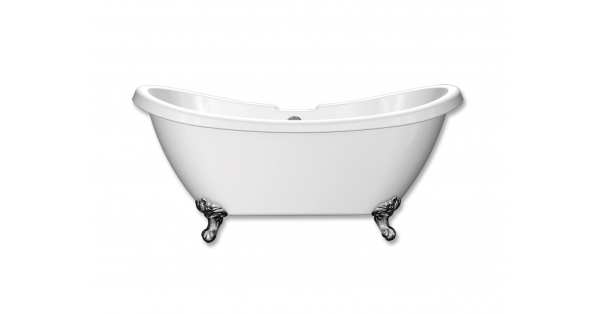 Traditional Double Slipper – Freestanding Acrylic Bath